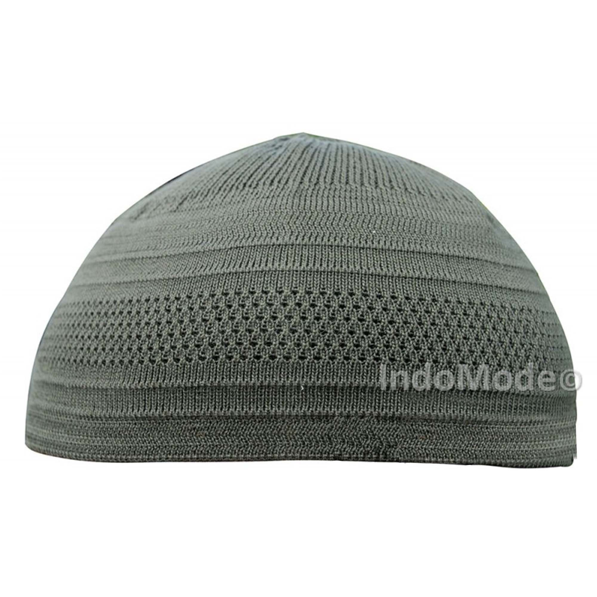 TheKufi Dark Olive Green Cotton Stretch-knit Kufi Hat Skull  3464e82689b7