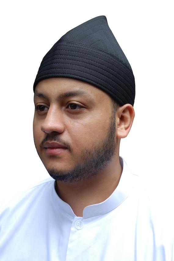 Black Rigid Handcrafted Tall Naqshbandi Tariqah Sufi Muslim  100d06539370