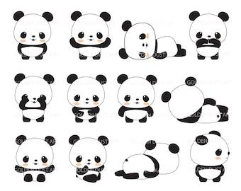 Panda Clip Art Clipart Cute Kawaii Baby