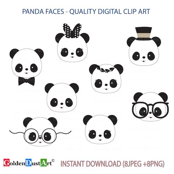 Cute Panda Faces Clip Art Panda Clip Art Panda Faces ... - photo#40