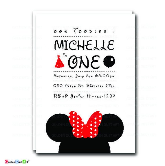 Mickey Mouse Birthday Invitation Oh Toodles