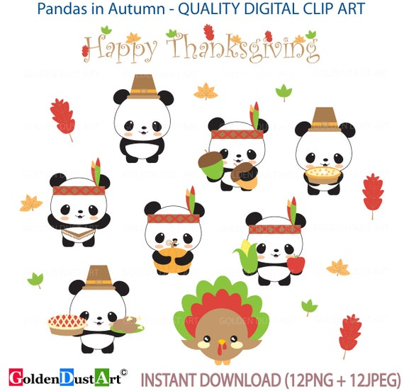 Clipart Panda Free Clipart Images: Thanksgiving Clip Art Pandas In Autumn Clip Art Autumn