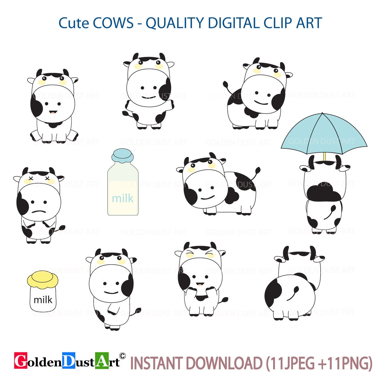 cow clipart cute cows kawaii cow kawaii animal kawaii etsy rh etsy com cute crow clip art cute cow clipart black and white