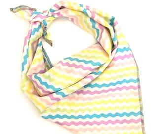 Spring pastels tie on pet bandana