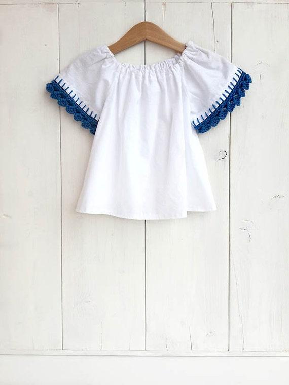 692c0b0e4872 Baby white cotton blouse baby cotton shirt toddler blouse
