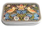 William Morris Design 01 Slim Hinged Silver 1oz Tin Tobacco Storage Pill Box Fishing Tack