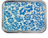 William Morris Design 05 Lidded Silver 2oz Tin Tobacco Storage Pill Box Fishing Tack