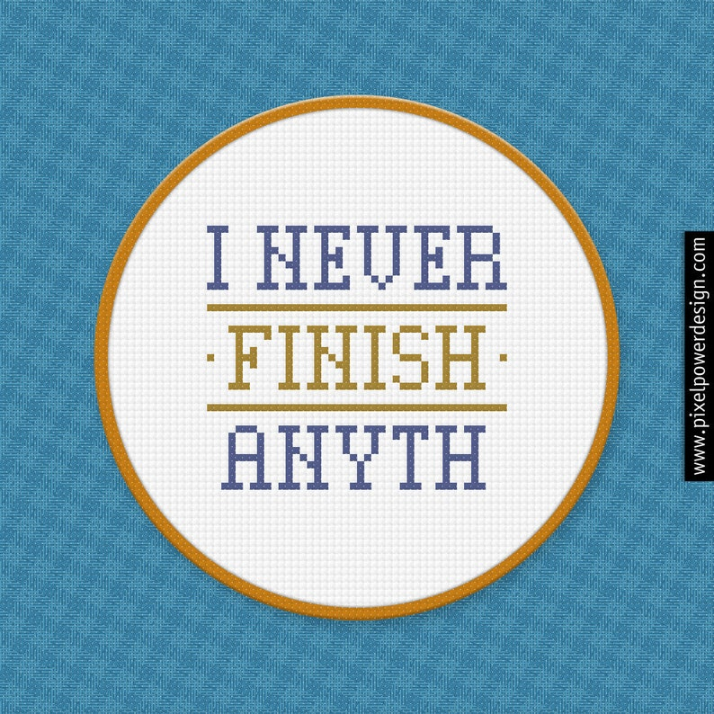 Simple Cross Stitch Pattern For Beginners / Motivational Quotes Cross  Stitch Design / Finish Cross Stitch Charts / Easy Cross Stitch Funny