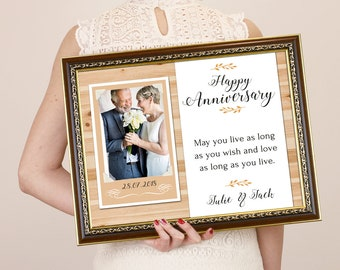 50th Anniversary Gifts, Parents Anniversary Gift, Anniversary Frame, 25th Anniversary, 50th Anniversary