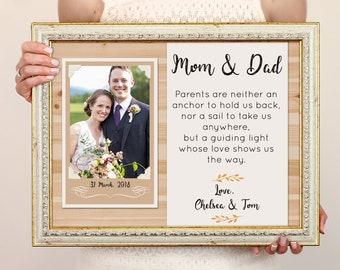 6edf3f28f625a Wedding gift parents | Etsy