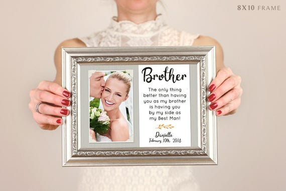 Brother Wedding Gift Best Friend Thank You Gift Wedding Gift Etsy