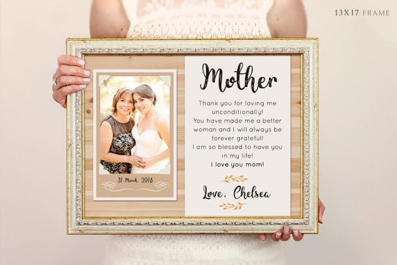 Mother Of The Bride Frame Personalized Frame Unique Wedding | Etsy