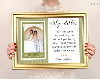 Sister Gift, Bridesmaid Gift, Best Friend Gift, Maid Of Honor Gift, Personalized Picture Frame Best Friends