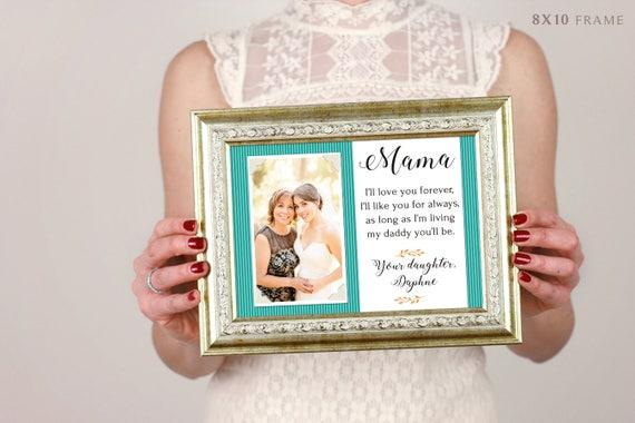 Cadeau de fête des mères maman personnalisé cadre photo ' je t'aimerai toujours. Je vais que vous pour toujours. Aussi longtemps que je vis ma maman vous serez '