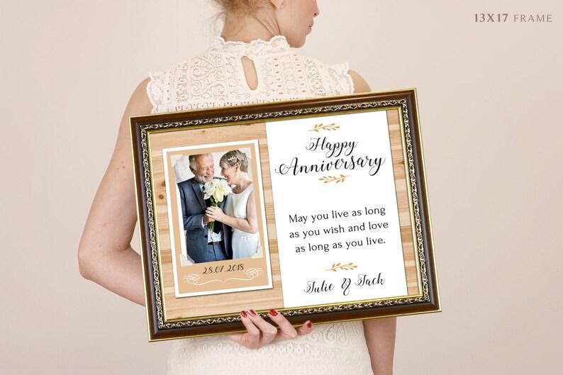 Cadre Ame Parents Douche Merci Anniversaire Cadeau Mariage