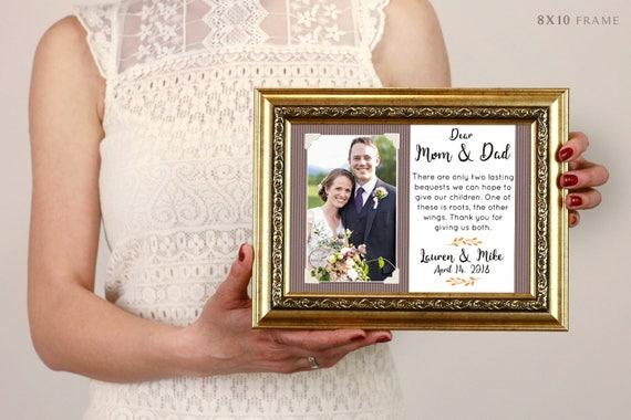 Eltern Hochzeitsgeschenk Bilderrahmen Eltern Des Brautigams Etsy