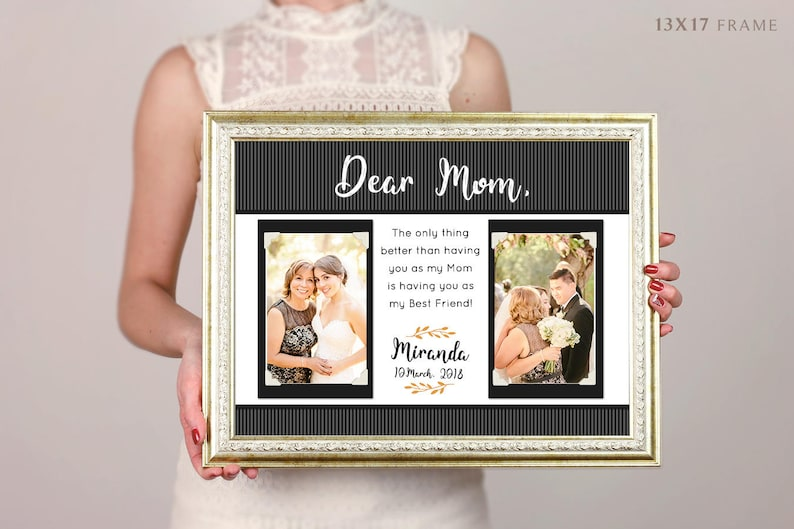 Wedding Gifts For Parents Thank You Gift Personalized Picture Frame Rustic Wedding Mother Of Bride Father Of Bride