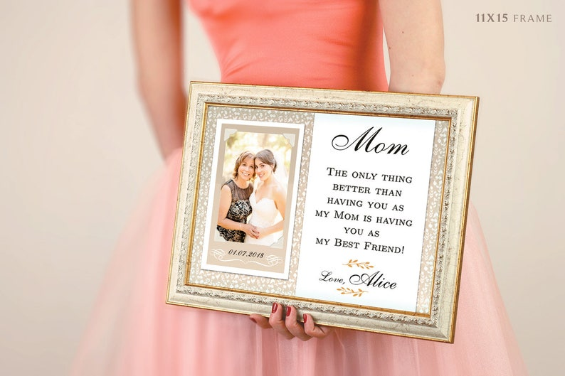 Thank You Gifts For Parents Wedding Gift Personalized Picture Frame Rustic Wedding Mother Of Bride Father Of Bride