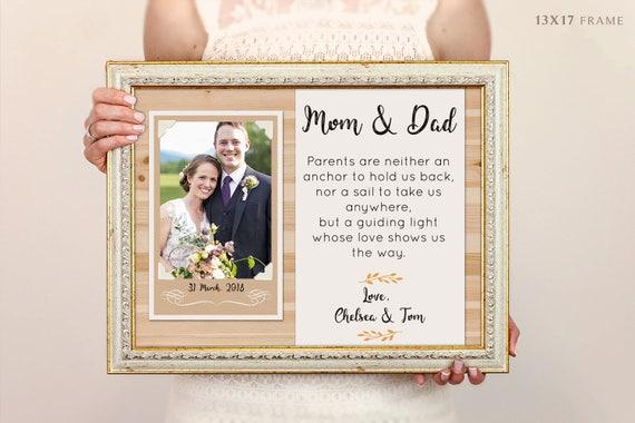 Eltern Hochzeitsgeschenk Danke Eltern Des Brautigams Vater Etsy