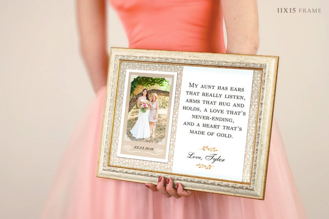 Gift For Aunt Picture Frame For Aunt Present For Aunt I Love My Aunt