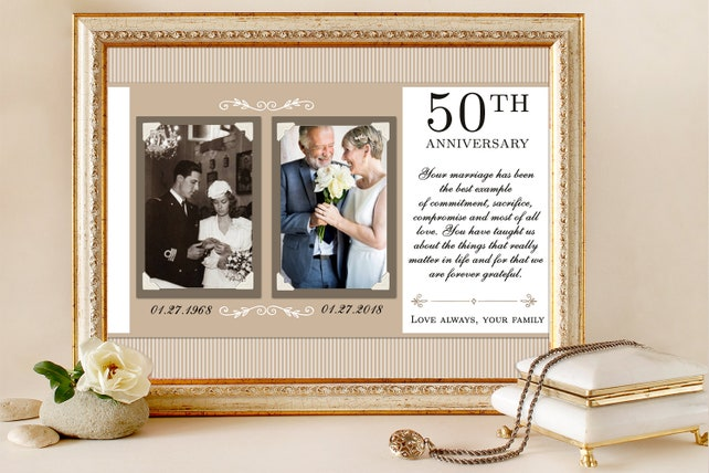 Anniversary Gift For Parents Mom Dad Anniversary Personalized