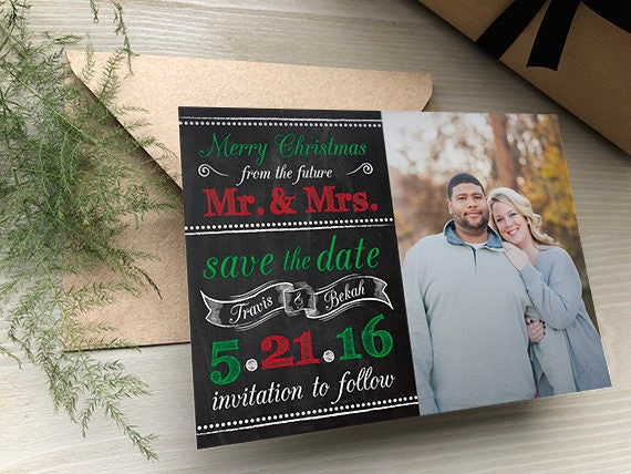 Christmas Save The Date.Merry Christmas Save The Dates Holiday Save The Date Christmas Wedding Save The Dates Save The Date Christmas Card