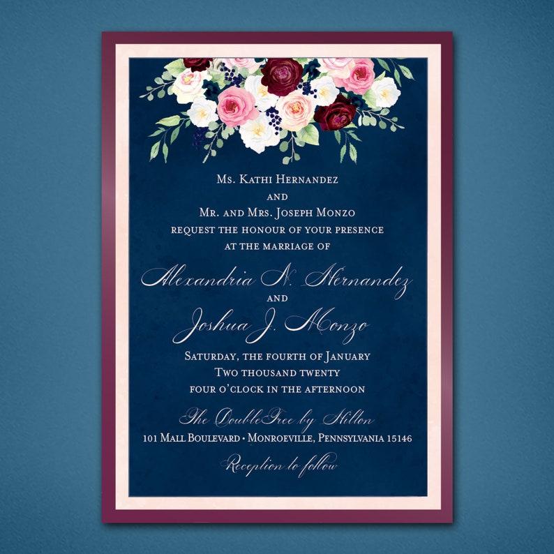 Garden Floral Wedding Invitations \u2022 Summer Wedding