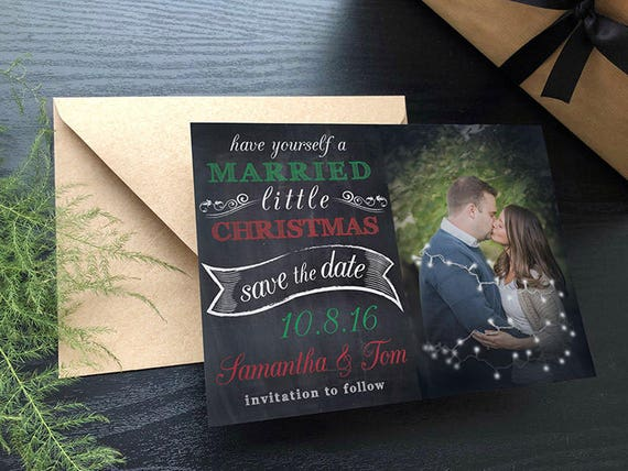married little christmas save the date save the date etsy