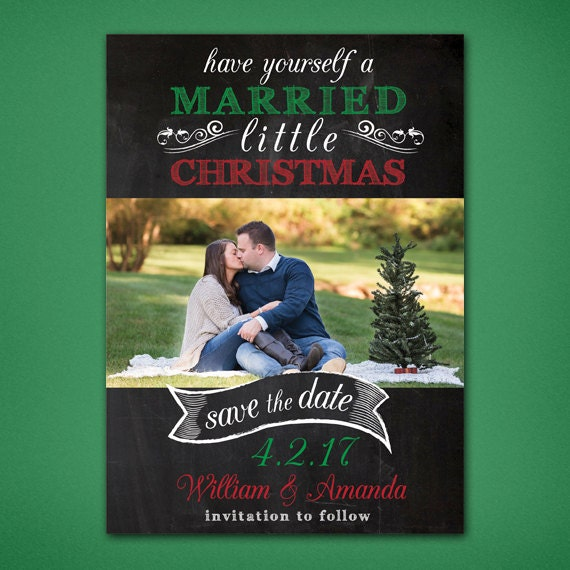 Christmas Save The Date Cards.Married Little Christmas Save The Date Save The Date Christmas Card Christmas Wedding Save The Dates Christmas Save The Date Cards