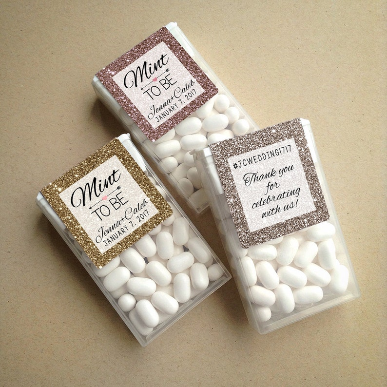 Glitter & Sparkle Mint to Be Wraparound Tic Tac Wedding Favor image