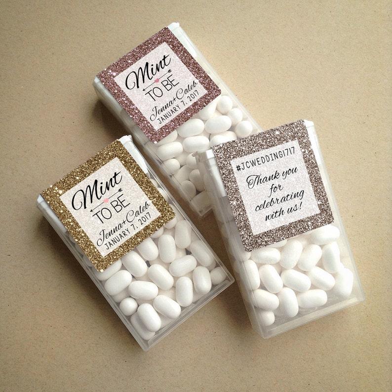 Glitter & Sparkle Mint to Be Wraparound Tic Tac Wedding Favor image