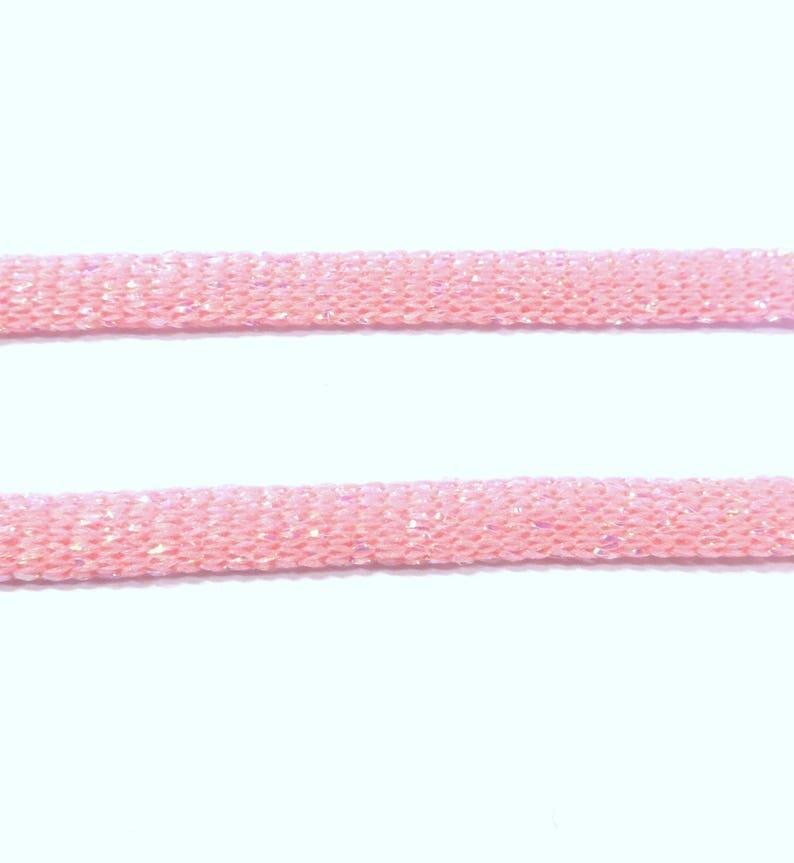 Nylon Polyester Metallic Flat Ribbon 5mm20 meters