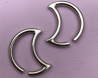 Luna Ear Weights - Solid Sterling Silver - Ear Hangers for Stretched Lobes