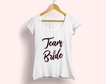 Team Bride shirt, Bachelorette tee, Bridesmaid T-shirt, Bachelor Party tee, Bridesmaid tee, Wedding gifts, Engagement gifts, Fashion T-shirt