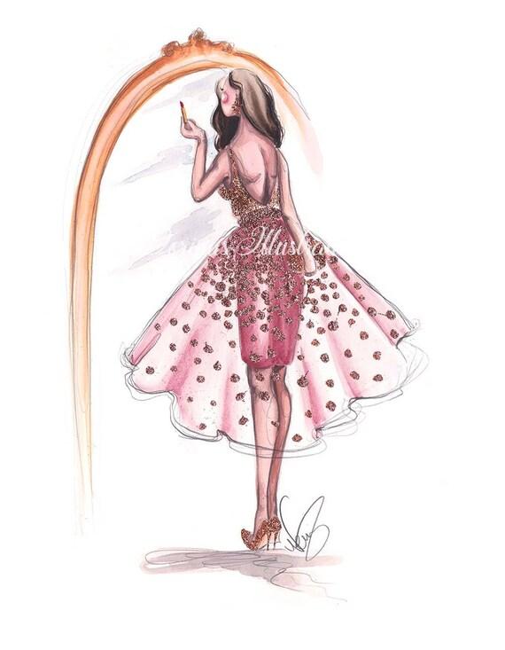 7c18d59d26 Fashion illustration Makeup illustration Girl illustration