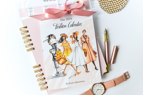 2019 Fashion Calendar 2019 Wall Calendar 2019 Desk Calendar Etsy