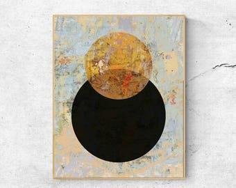 Abstract art print, Modern wall art print, Yellow wall art, Large wall art printable, Abstract wall art, Modern art print, Geometric print