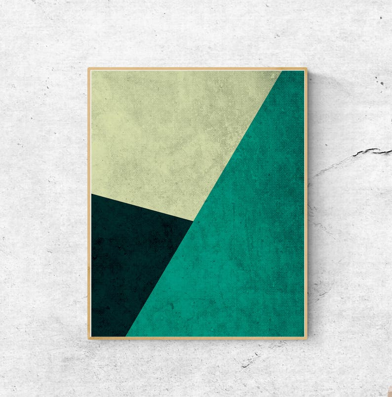 Mid Century Modern Instant Download Art Abstract Art Prints Printable Wall Art Prints Geometric Wall Art Large Wall Art Green Wall Art