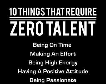 picture about 10 Things That Require Zero Talent Printable identify 10 Elements That Will need Zero Skill Inspirational Print Etsy