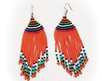 Kenyan Maasai Fringe Earrings - ASSORTED
