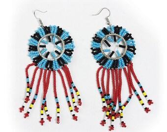 Maasai Bead Fringe Earrings - ASSORTED