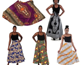 Africa  Set Of 5 African Print Wrap Skirts