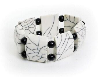 Handmade  Large White Bone Bracelet