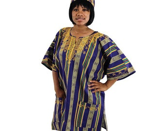 Africa Traditional  Kente Dashiki - Style #4