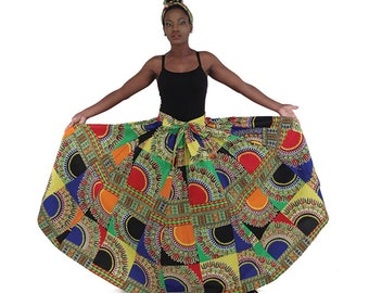 Africa  Traditional Patch-Print Maxi Skirt Style #1