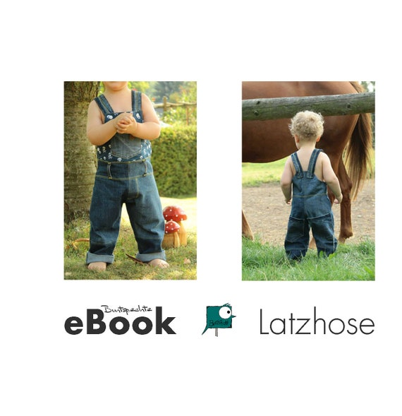 Ebook bib pantalones patrón de costura 56-134 | Etsy