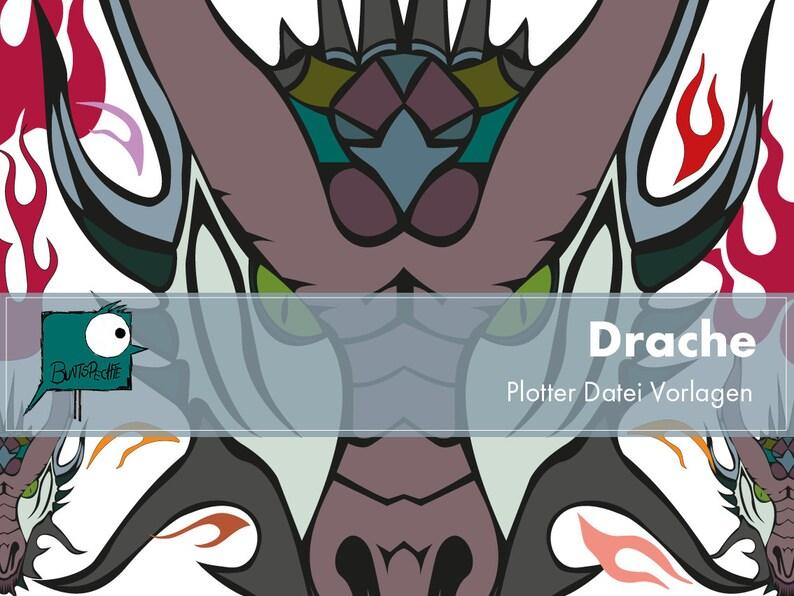 Dragon Fire Colourful Plotter File