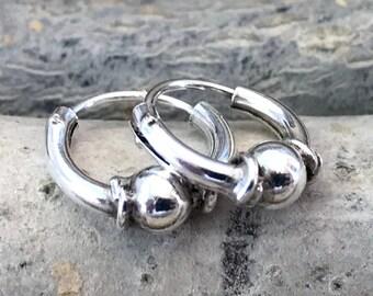 76b335e62 10mm Spiral Bali Hoops, Twisted Hoop Earrings, Bali Style twisted Tiny Hoop  Earrings,Hand Made Hoops, Bali Earrings, 10mm silver CRS104