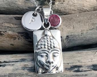 Buddha Pendant, Buddha Necklace, Buddhist Jewelry AUM021