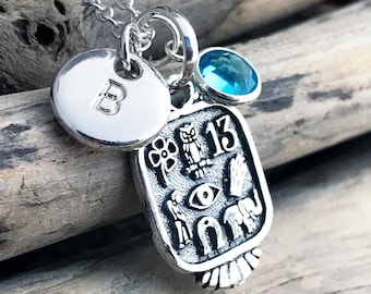 Sterling Silver Good Luck Pendant Necklace,Gift for her SUE024